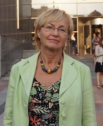 Lena Kolarska-Bobińska - Image: Lena Kolarska Bobinska, outside the European Parliament (cropped)