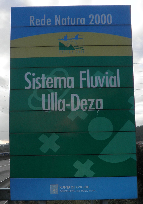 Letreiro Sistema fluvial Ulla-Deza