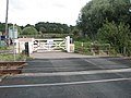 Level crossing at Station Road - geograph.org.uk - 1482993.jpg