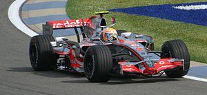 McLaren MP4-22 - Image: Lewis Hamilton 2007 USA 3