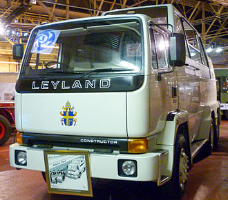 Popemobile - One of the two Popemobiles coachbuilt on Leyland Constructor chassis for Pope John Paul II's visit to the United Kingdom in 1982