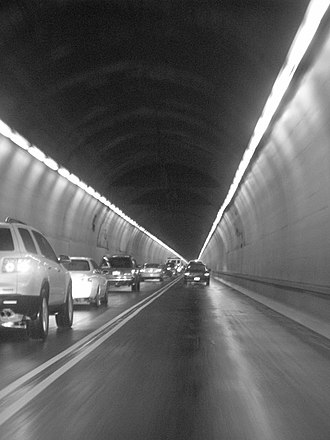 Liberty Tunnel - Traffic flowing through the Liberty Tunnels