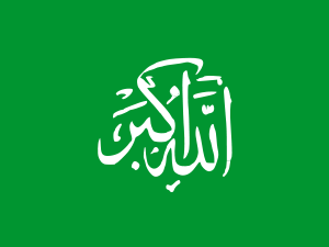 Flag of the Khadaffi's resistance in Libya.
