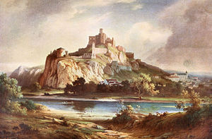 Antal Ligeti - Trenčín Castle (date unknown)