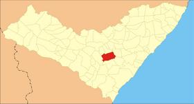 Localização de Limoeiro de Anadia