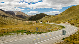 Lindis Pass - Road to Lindis Pass