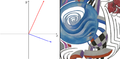 Linear transform of vectors and image - scaling up.png