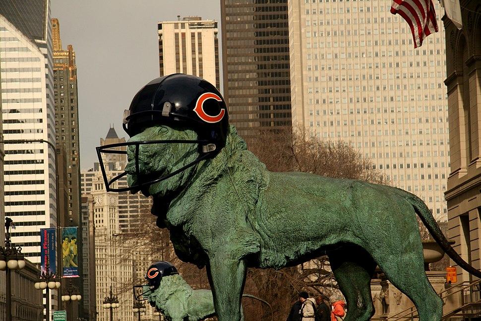 Lion Chicago Bears Helmet