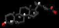 Lithocholic acid molecule skeletal.png