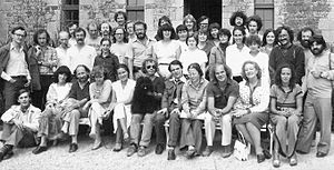 Nouveau roman - Contemporary literature workshop with Marc Avelot, Philippe Binant, Bernard Magné, Claudette Oriol-Boyer, Jean Ricardou, Cerisy (France), 1980