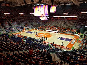 Littlejohn Coliseum - Littlejohn Coliseum, Clemson, before the first official game in the renovated arena, vs Georgia