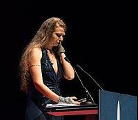 Liz Gorinsky at the Hugo Awards Ceremony, Worldcon, Helsinki (cropped).jpg
