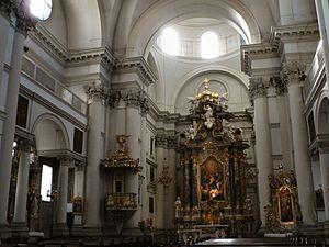 Ursuline Church of the Holy Trinity - Image: Ljubljana Ursuline Church interior