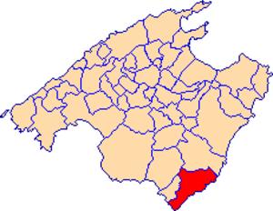 Santanyí - Image: Localització de Santanyí