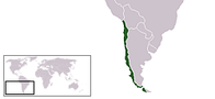 A map showing the location of Chile