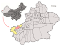 Location of Artux within Xinjiang (China).png