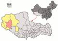 Location of Gê'gyai within Xizang (China).png