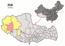 Location of Gê'gyai within Xizang (China).png