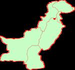 Location within Pakistan