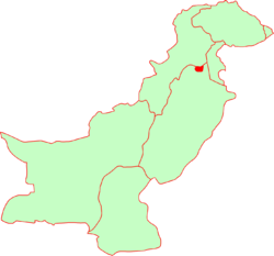 Location within Pakistan