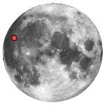 Location of lunar aristarchus crater