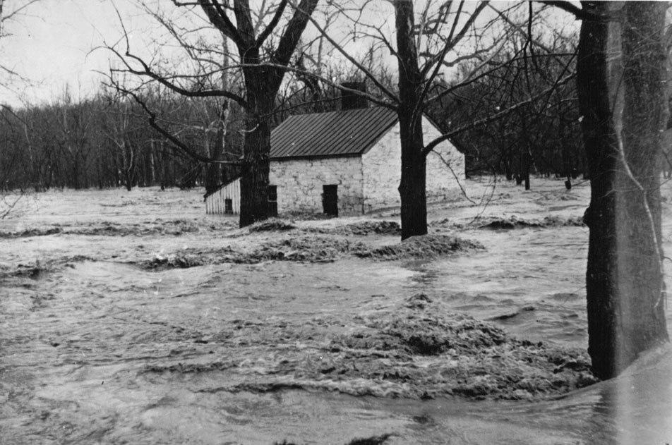 Lock 6 Flood of 1934 on Chesapeake and Ohio Canal