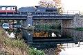 Locomotive reflection in the River Nene, Wansford station - geograph.org.uk - 1563311.jpg