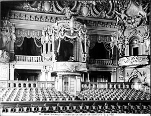 Opéra de Monte-Carlo - Royal box (c. 1900)