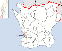 Lomma Municipality in Scania County.png