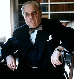 portrait of Boothby in 1975 by Allan Warren
