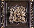 Lorenzo ghiberti e aiuti, porta nord del battistero di firenze, cornici, 11 ingresso a gerusalemme.JPG