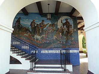 Blessing of animals - Blessing of the Animals Mural, Mexican Consul, Los Angeles