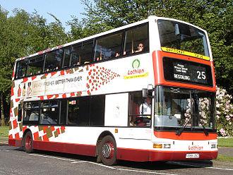 Transport in Scotland - Lothian Buses double-decker bus in Edinburgh