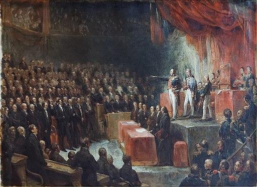 Louis-Philippe prêtant serment devant les Chambres, le 9 août 1830 by Ary Scheffer (Carnavalet P 1537)