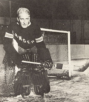Lester Patrick - Lester Patrick serving as goaltender