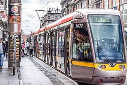 Luas tram stop at Abbey Street in 2012.jpg
