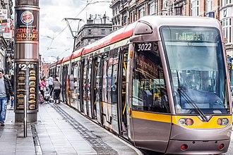 Luas - Luas tram stop at Abbey Street