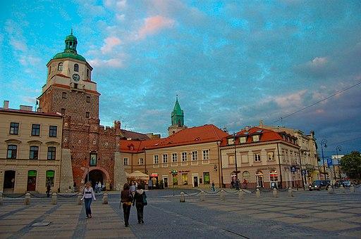 Lublin, Stare Miasto - Brama Krakowska i Plac Lokietka (2009-06-12)