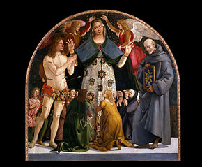 Madonna of Mercy and Saints Sebastian and Bernardino da Siena
