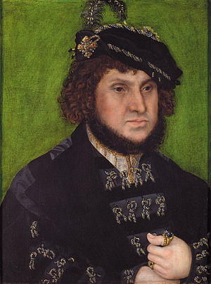 John, Elector of Saxony - Johann of Saxony by Lucas Cranach the Elder, 1509.
