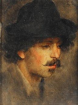 Ludwig Knaus - Porträtstudie eines jungen Herrn