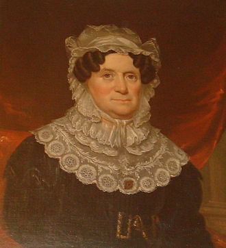 Shepherd Hall (Monument Place) - Portrait of Lydia Boggs Shepherd Cruger (1766 - 1867) painted in 1832 by James Reid Lambdin