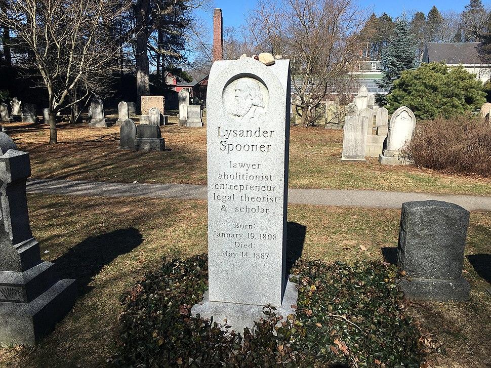 Lysander Spooner Grave