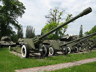 130 mm towed field gun M1954 (M-46) - M-46 130mm field gun