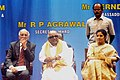 M. Karunanidhi, the Minister of State for Human Resource Development, Smt. D. Purandeswari and the Director, IIT, Prof. Ananth, at the Golden Jubilee Celebrations of IIT Madras, in Chennai on July 31, 2008.jpg