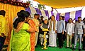 M. Venkaiah Naidu and the Union Minister for Micro, Small and Medium Enterprises, Shri Kalraj Mishra laying the foundation stone of the New Technology Centre of the Ministry of MSME, at PUDI, Anakapalli.jpg