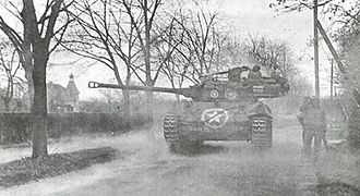 M18 Hellcat - M18 Hellcat of the 824th Tank Destroyer Battalion in action at Wiesloch, Germany, April 1945
