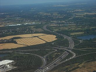 M25 motorway - The M4/M25 motorway junction, near Heathrow Airport