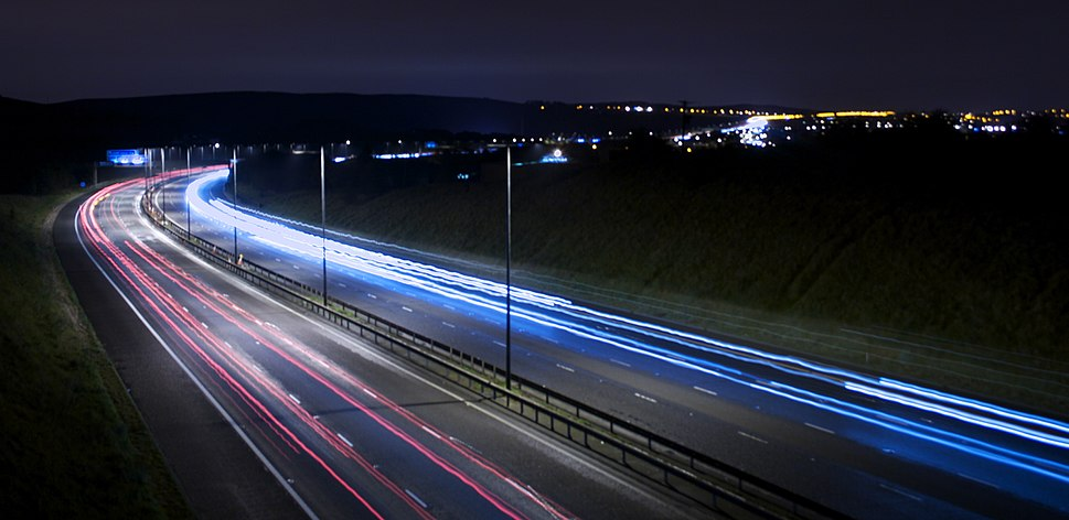 M62 motorway from Tunshill