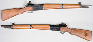 MAS-36 rifle - MAS-36 rifle produced post World War II. From the Swedish Army Museum.